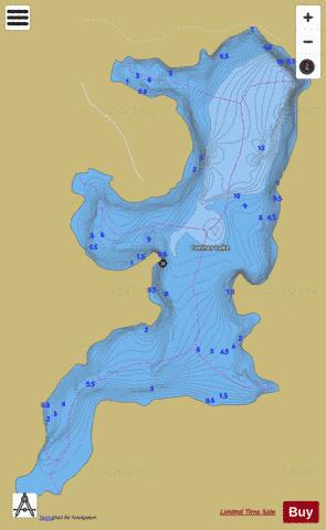 Conner Lake Fishing Map - i-Boating App