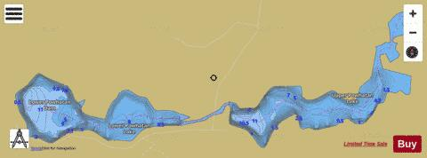 Lower Powhatan Lake Fishing Map - i-Boating App