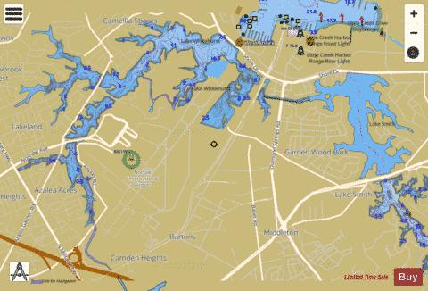 Whitehurst Reservoir Fishing Map - i-Boating App