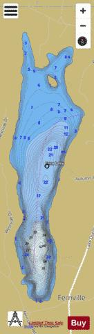 Fern Lake Leicester Fishing Map - i-Boating App