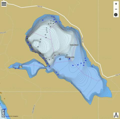 Cascade Lake,  San Juan County Fishing Map - i-Boating App