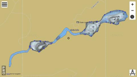 Chain Lake,  Pend Oreille County Fishing Map - i-Boating App