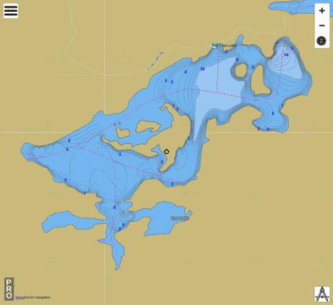 Cow Lake,  Adams County Page Fishing Map - i-Boating App