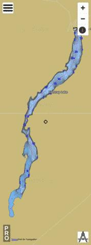 Fishtrap Lake,  Lincoln County Fishing Map - i-Boating App
