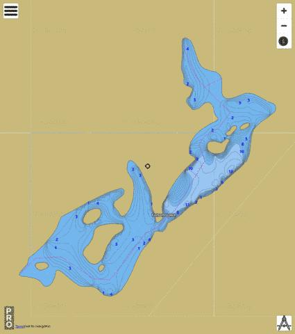Folsom Lake,  Whitman County Fishing Map - i-Boating App