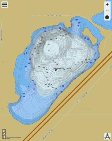 Granite Lake,  Spokane County Fishing Map - i-Boating App