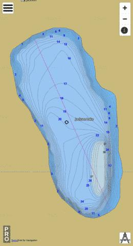 Jackson Lake,  Pierce County Fishing Map - i-Boating App