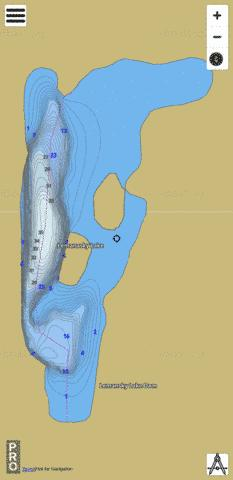 Lemanasky Lake,  Okanogan County Fishing Map - i-Boating App