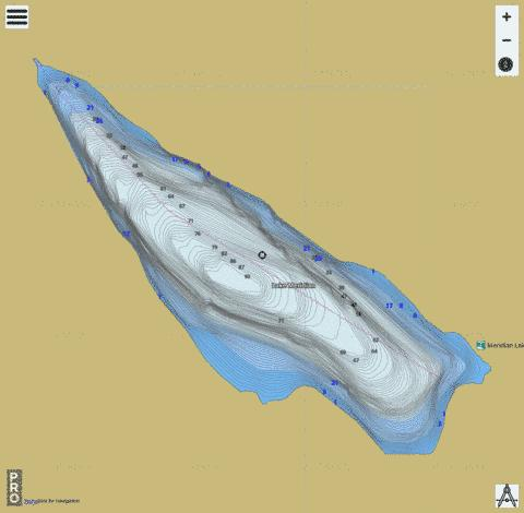 Meridian Lake,  King County Fishing Map - i-Boating App