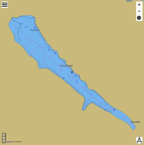 Mud Lake,  Clark County Fishing Map - i-Boating App