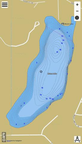 Munn Lake,  Thurston County Fishing Map - i-Boating App