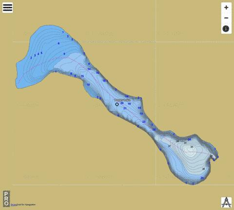 Power Lake,  Pend Oreille County Fishing Map - i-Boating App