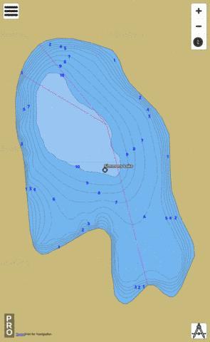 Simmons Ken Lake,  Thurston County Fishing Map - i-Boating App