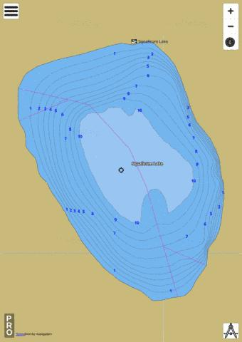 Squalicum Lake,  Whatcom County Fishing Map - i-Boating App