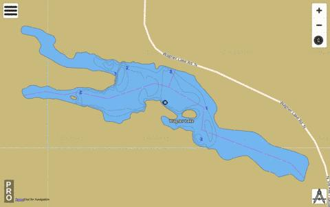 Wagner Lake,  Lincoln County Fishing Map - i-Boating App