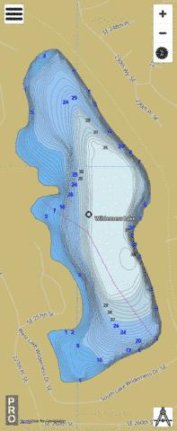 Wilderness Lake,  King County Fishing Map - i-Boating App