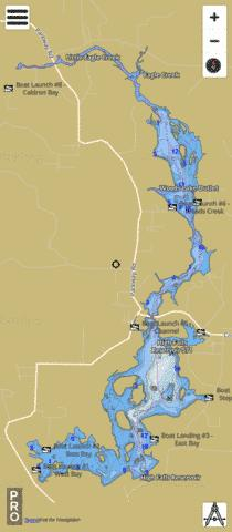 High Falls Reservoir Fishing Map - i-Boating App