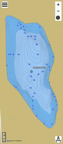 Anderson Lake D Fishing Map - i-Boating App