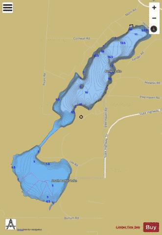 Barber Lake Fishing Map - i-Boating App