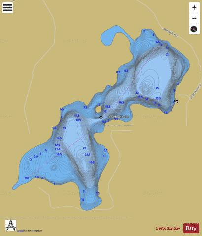Bearskull Lake Fishing Map - i-Boating App