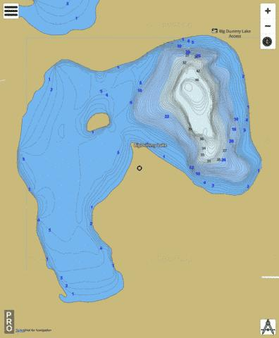 Big Dummy Lake Fishing Map - i-Boating App