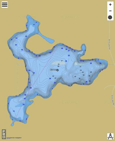 Bird Lake Fishing Map - i-Boating App