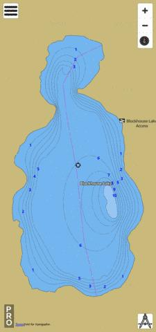 Blockhouse Lake Fishing Map - i-Boating App