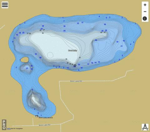 Boot Lake Fishing Map - i-Boating App
