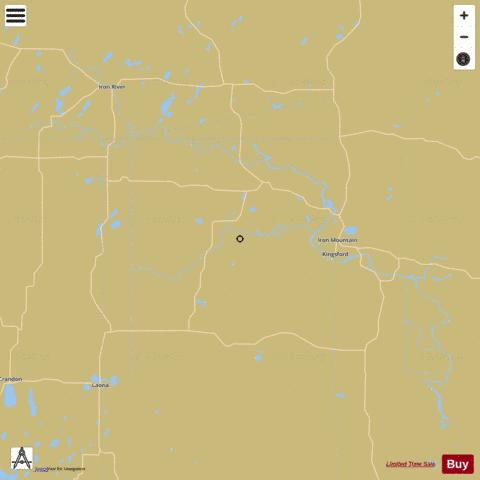 Brule River Flowage Fishing Map - i-Boating App