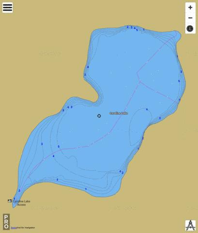 Caroline Lake Fishing Map - i-Boating App