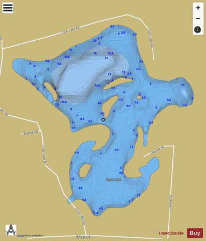 Clear Lake B Fishing Map - i-Boating App