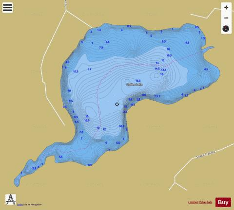 Coffee Lake B Fishing Map - i-Boating App