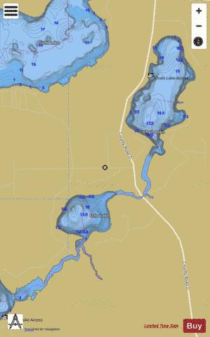 Chain Lake + Echo Lake Fishing Map - i-Boating App