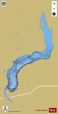 Elk Creek Lake Fishing Map - i-Boating App