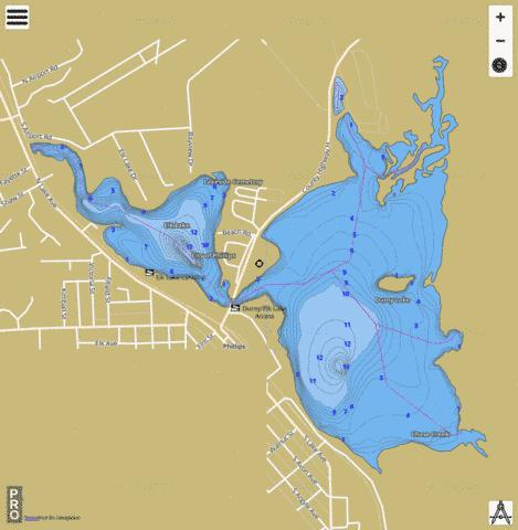 Elk Lake Fishing Map - i-Boating App