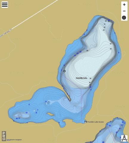 Franklin Lake Fishing Map - i-Boating App