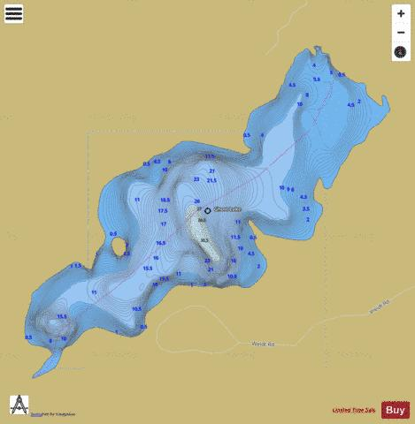 Ghost Lake A Fishing Map - i-Boating App