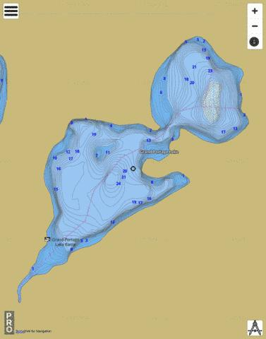 Grand Portage Lake Fishing Map - i-Boating App