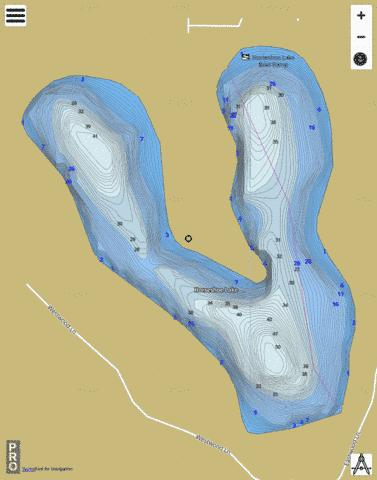 Horseshoe Lake B Fishing Map - i-Boating App