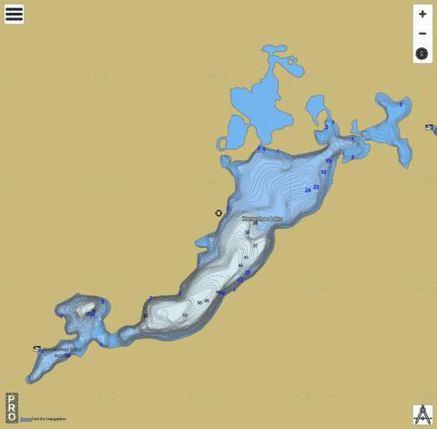 Horseshoe Lake Fishing Map - i-Boating App