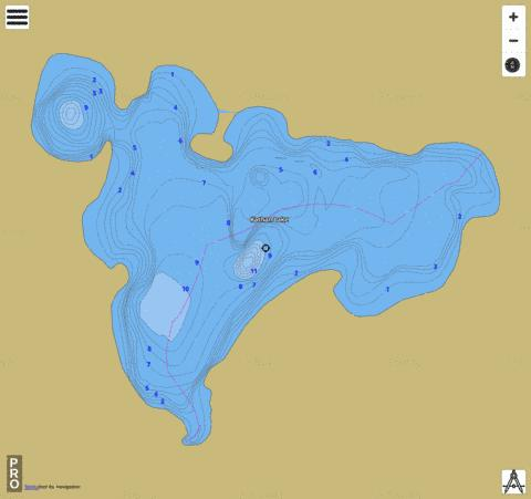 Kathan Lake Fishing Map - i-Boating App