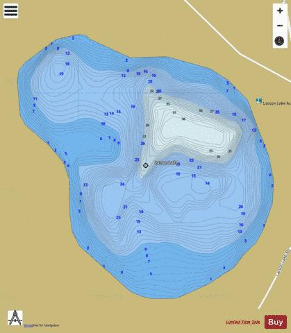 Larson Lake Fishing Map - i-Boating App