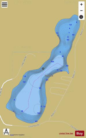 Long Lake R Fishing Map - i-Boating App