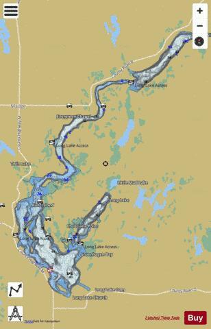 long lake wi map Long Lake Fishing Map Us Aa Wi Long Lake Wisc Nautical long lake wi map