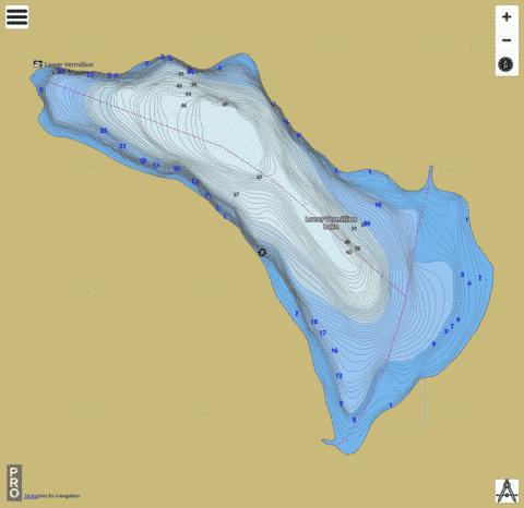 Lower Vermillion Lake Fishing Map - i-Boating App
