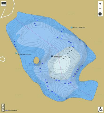 Mcgee Lake Fishing Map - i-Boating App