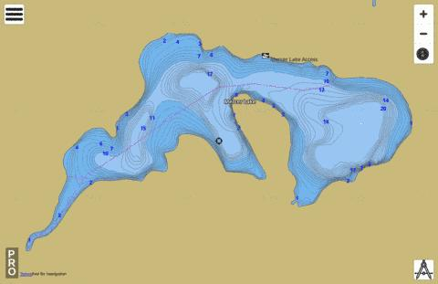 Mercer Lake Fishing Map - i-Boating App
