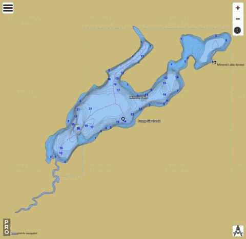 Mineral Lake Fishing Map - i-Boating App