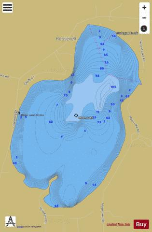 Moen Lake Fishing Map - i-Boating App