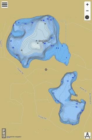 Moon Lake Fishing Map - i-Boating App